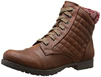 Qupid Women's Wyatte-47 Boot, Brown, 7.5 M US