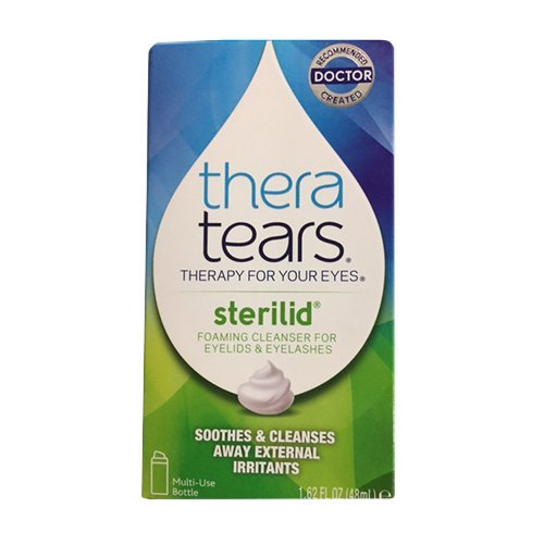 Sterilid Eyelid Cleanser - Theratears Sterilid Foam Scrub 1.62 Oz(2 Pack)
