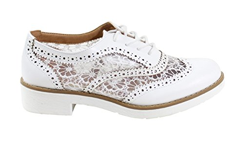 Donna Shoes Basse Scarpe Bianco Stringate By nTxRqd88