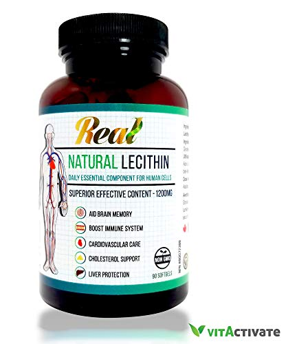 Natural Lecithin Supplement Better Brain Memory and Fatty Liver Support by VITA Activate Non-GMO For Sale