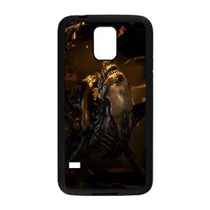 R7O86 aliens marines L6D2AN funda Samsung Galaxy S5 funda caja del teléfono celular coloniales cubren PP6FOD0SG negro