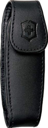 Victorinox Large Pocket Knife Clip Pouch, Leather Black - Pocket Knife Leather Clip