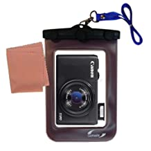 Gomadic Waterproof Camera Protective Bag suitable for the Canon Powershot S110 S120 - Unique Floating Design Keeps Camera Clean and Dry