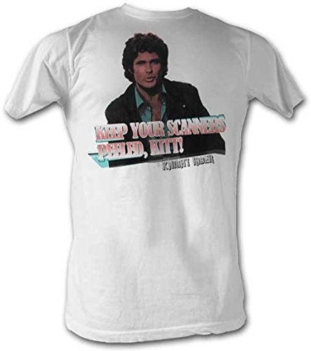 Knight Rider Keep Your Scanners Peeled Kitt Adult T-shirt, S to XXL