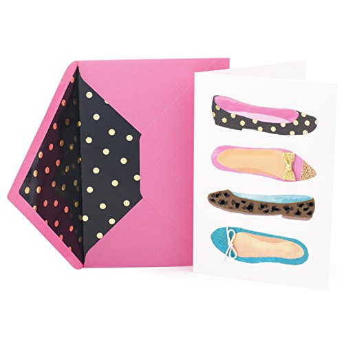 Hallmark Signature Birthday Greeting Card for Her (Flat Shoes)