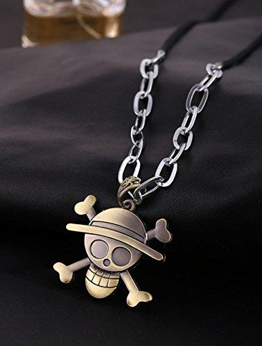 Globalmate Fashion Jewelry Anime One Piece Skull Pendant Necklace