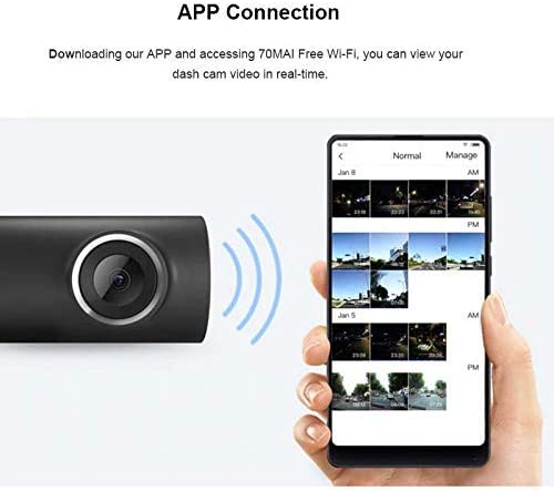 Dash Camera Car Registrator 70mai Black Navigation Car Hifi