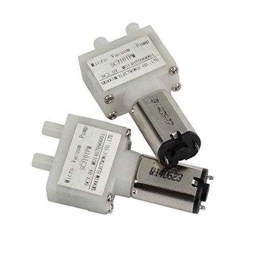 HiLetgo 2pcs DC 3V Micro Vacuum Pump Super Mini Air Pump Medical Pump 30KPa 0.28L/m 160mA