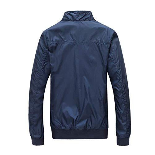 Autumn Bomber Outerwear Collar Men Plaid Casual Huixin Schwarz Stand Sport Winter Jacket Jackets Jacket Lined Men Sleeve Jacket Jacket Men Apparel Long qEHwx0F