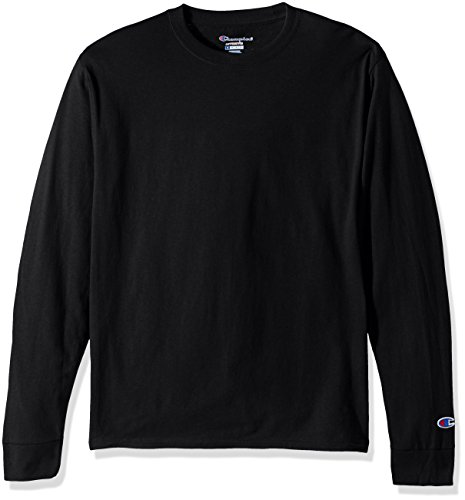 Champion LIFE Men's Cotton Long Sleeve Tee, Black, Large ()