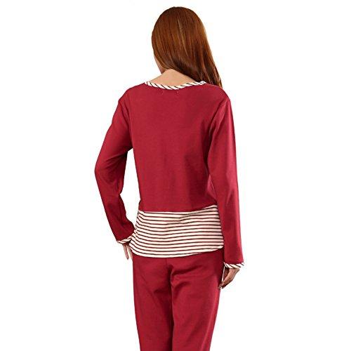damas pijamas de algodón/Pijamas de dibujos animados manga larga suelta/ primavera y otoño ropa y trajes de casa B