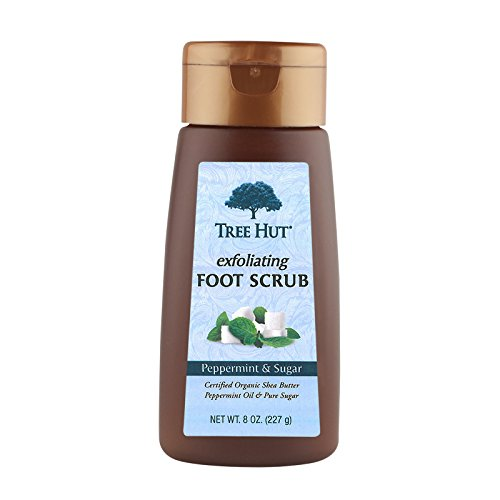 Tree Hut Exfoliating Foot Scrub, Peppermint and Sugar , 8-Ounce (Peppermint Foot Scrub)