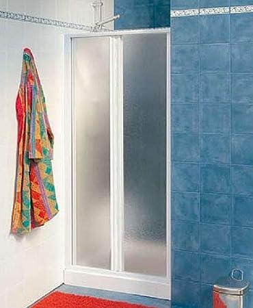 Mampara de ducha MALIBU CLASSIC M/4S con soporte de techo blanco + cristal estampado 710-760: Amazon.es: Bricolaje y herramientas