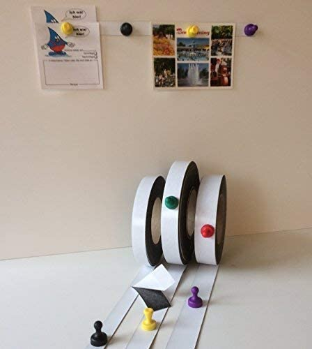 Eisenband Ferroleiste Ferroband selbstklebend Magnetband Magnethaft Wandleiste Selbstklebend 5 Meter x 35mm x 0,6mm Wei/ß Gl/änzend