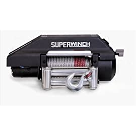 Superwinch 1917 S9000 12VDC winch; rated line pull of 9,000 lb/4082 kg with Roller Fairlead