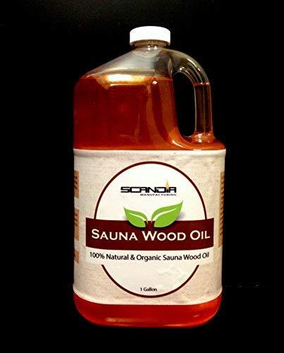 - Scandia Sauna Wood Oil 100% Natural All Organic - 1 Gallon