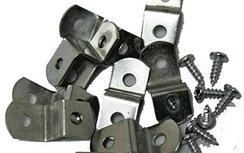 "Extra Heavy Duty 3/8"" Canvas Offset Clips With Screws 20 Pack"