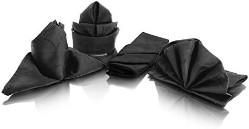 4 servilletas de damasco tela-servilleta boca algodón Negro 42 x ...