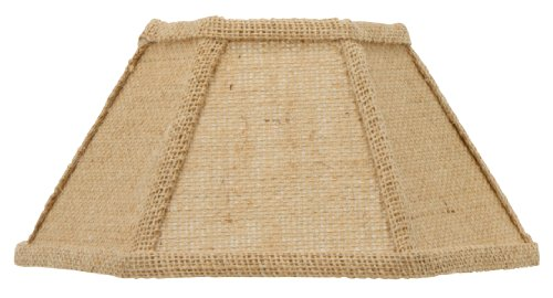 Upgradelights 12 Inch Replacement Chimney Shade for Oil Lamps in Natural Burlap (5x12x7)