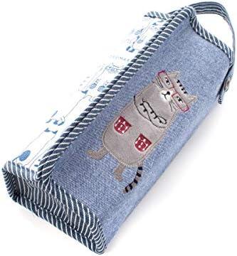 Kusuguru くすぐる ネコまるけティッシュボックスカバー 青 20-3672#2