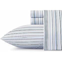 Nautica Sailing Stripe Sheet Set, Queen, Blue