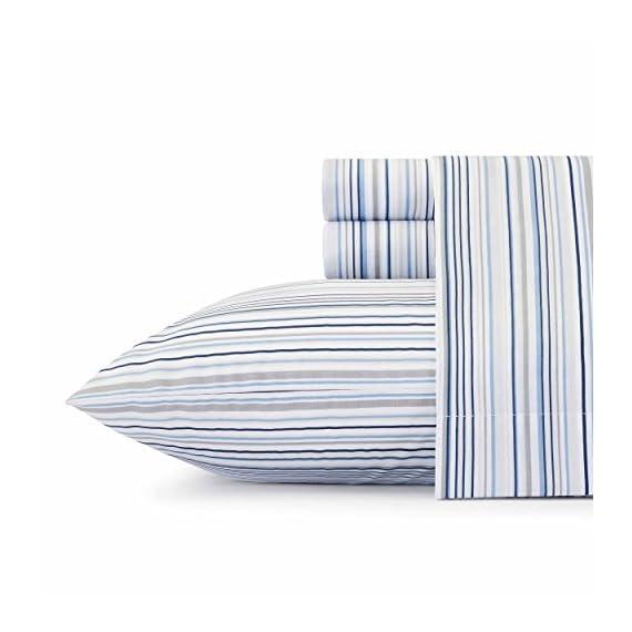 Nautica Sailing Stripe Sheet Set, Full, Blue -  - sheet-sets, bedroom-sheets-comforters, bedroom - 41WK jScLHL. SS570  -