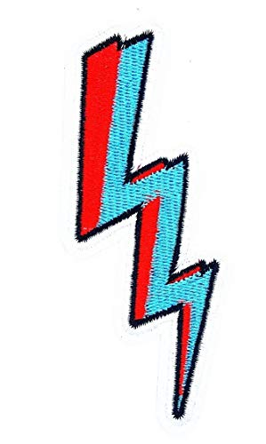 (Lightning Bolt (Red&Blue) Stormy Thunder Cartoon Children Kid Patch Clothes Bag T-Shirt Jeans Biker Badge Applique Iron on/Sew On Patch)