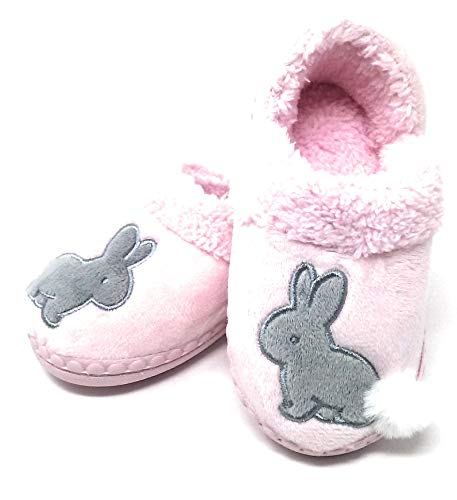 Wonder Nation Girl's Slippers, Assorted Sizes and Styles (Children 7-8, Pink- Grey Rabbit) for $<!--$10.99-->