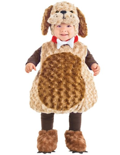 Underwraps Costumes Toddler Puppy Costume - Belly Babies Furry Puppy Costume, Medium (18-24 (Easy Halloween Costumes Toddlers)