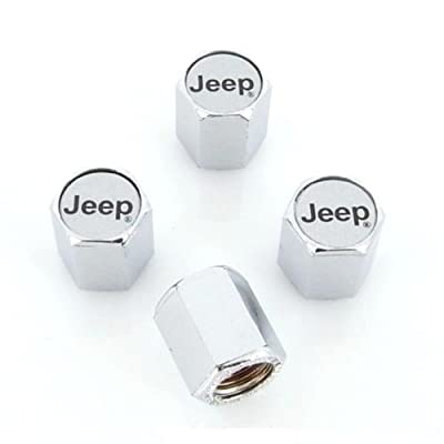 Jeep Tire Valve Stem Caps - (Set of 4): Automotive