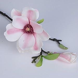 1 PCS Sprig Mini Magnolia Single Magnolia Flower Simulation Flower Wedding Silk Cloth Interior Decoration Flower Cross-Border 71
