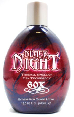 Millenium Tanning Black Night Premium Tanning Lotion, Thermal Emulsion, Bronzer Tan Technology, 60x, 13.5-Ounce