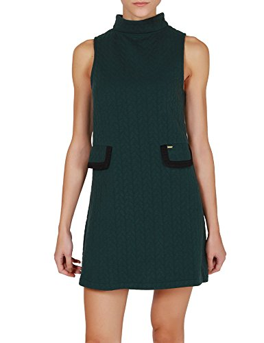 Kling Women's Wasat Green Dress With Rolled Neck verde