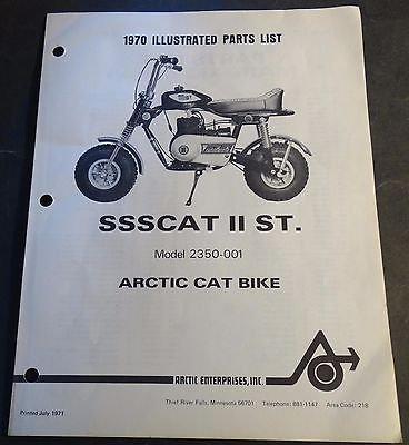 (1970 ORIGINAL ARCTIC CAT BIKE SSSCAT II ST. P/N 2385-008 PARTS MANUAL (889))