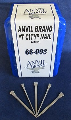 Anvil Brand 7 City Head Horseshoe Nails 250 Count Box by Anvil Brand