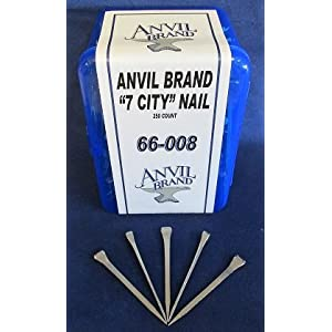 Anvil Brand 7 City Head Horseshoe Nails 250 Count Box 13