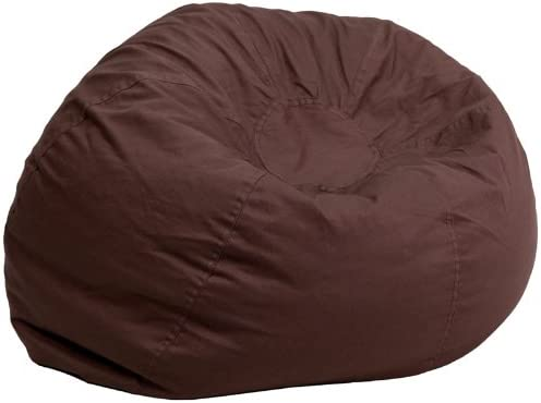 Miller Supply Inc 19″ Oversized Solid Brown Bean Bag Chair 1 Chair