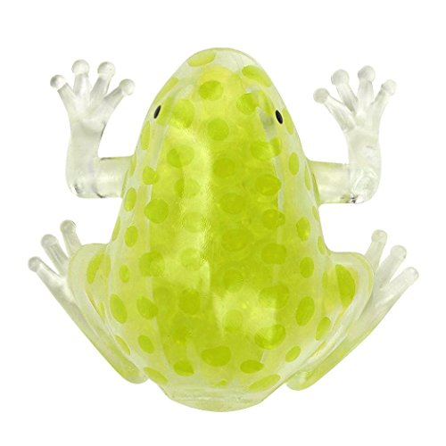 Slow Rising Squeeze Kid Toy, OCEAN Novelty 8cm Bead Stress Ball Sticky Squeeze Frogs Squeezing Stress Relief Toy (Yellow)