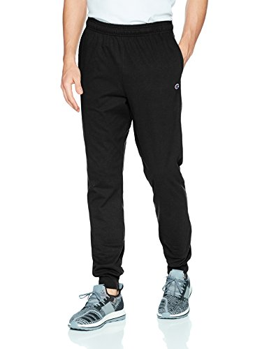 Champion Men's Jersey Jogger, Black, S (Jersey Outlets)