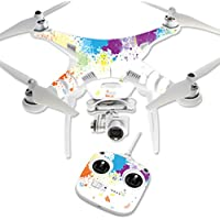 MightySkins Protective Vinyl Skin Decal for DJI Phantom 3 Standard Quadcopter Drone wrap cover sticker skins Splash Of Color