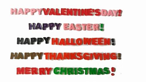 Holiday Assortment Window Cling Gels Happy Valentine's Day Easter Halloween Thanksgiving Merry Christmas -