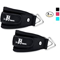 Ankle Straps For Cable Machines By RIMSports Kickback...
