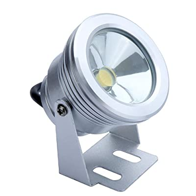 Flat Lens 10W 12V LED Underwater Light Flood Lamp Waterproof IP65 Fountain Pond Landscape Lighting 1000LM White