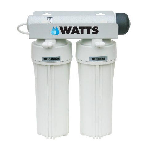 Watts 500320 3-Stage Undercounter Drinking Water Filter with Ultraviolet -