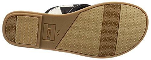 TOMS Women's Closed Toe Sandals, Black