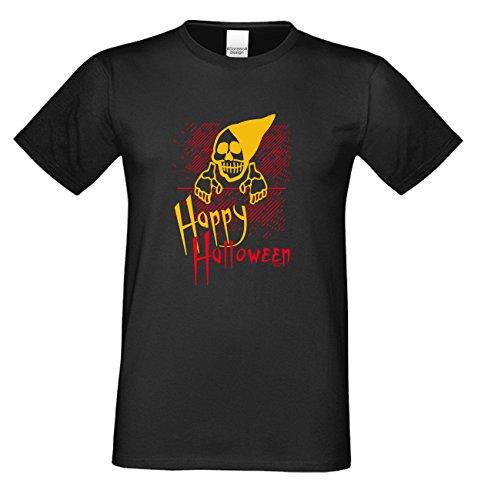 T-Shirt - Happy Halloween Skelett - gruseliges Motiv Shirt für Leute mit Humor