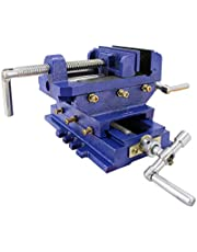 """HFS(R) 4"""" 2 Way X-Y Compound Cross Slide Vise Drill Press Metal Milling Heavy Duty Clamp Machine"""
