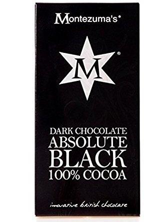Montezuma's Dark Chocolate Absolute Black 100% Cocoa 100g 100g Chocolate Bar