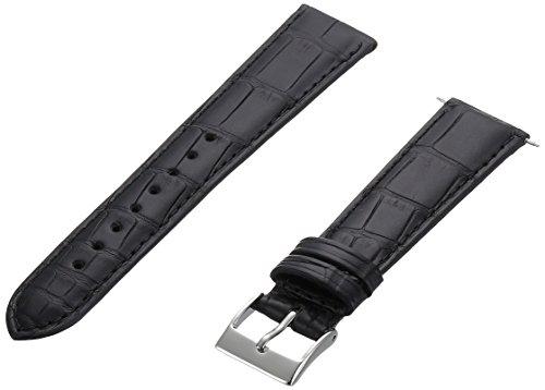 Artisan of Italy AITPD600-0120MR Men's Dress Padded Matte Alligator 20mm Black Watch Strap by Artisan of Italy