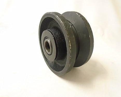 "3/"" x 1-1//2/"" V-Groove Iron Steel Caster Wheel 350 lbs each"